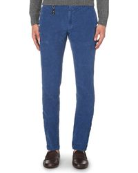 Slowear | Blue Waffle-finish Slim-fit Tapered Chinos for Men | Lyst