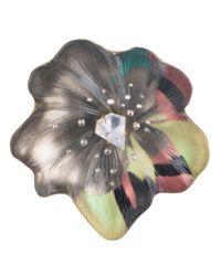 Alexis Bittar Multicolor Limited Edition Silk Mosaic Flower Pin