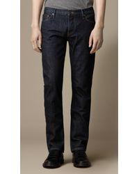 Burberry - Blue Steadman Indigo Rinse Slim Fit Jeans for Men - Lyst