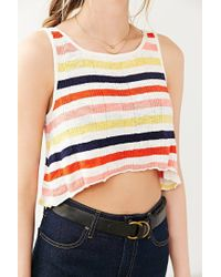 BDG - Red Sweater Tank Top - Lyst