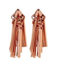Eddie Borgo | Metallic Fringe Rose-Gold Plated Earrings | Lyst