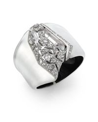 Alexis Bittar - Metallic Lucite Glacial Crystal Shattered Cuff Bracelet - Lyst