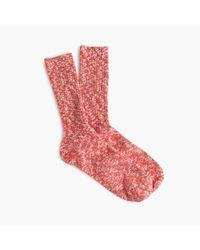 J.Crew - Pink Marled Camp Socks - Lyst