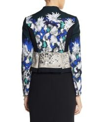 Peter Pilotto - Blue F Printed Cotton-Blend Jacket - Lyst