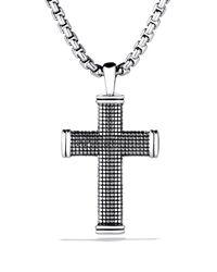 David Yurman Metallic Sky Small Cross On Chain for men