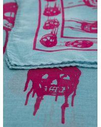 Alexander McQueen | Blue Drip Skull Scarf | Lyst