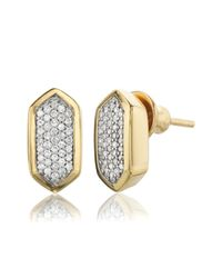 Monica Vinader | Metallic Baja Stud Earrings | Lyst