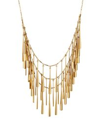 Panacea - Metallic Golden Layered Station Necklace - Lyst