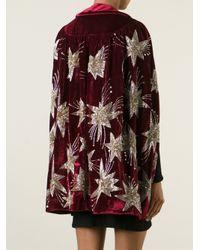 Saint Laurent - Embroidered Velvet Jacket - Lyst