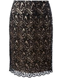 Viktor & Rolf Black Crochet Lace Skirt