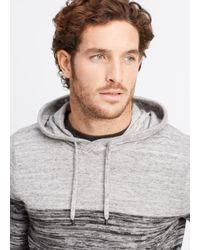 Vince Gray Sporty Jaspé Colorblocked Pullover Hoodie for men