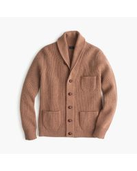 J.Crew | Brown Tall Lambswool Three-pocket Cardigan Sweater for Men | Lyst