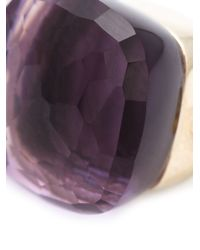 Pomellato Metallic Amethyst Drop Earrings