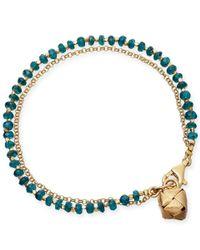 Astley Clarke - Blue Apatite Ginkgo Biography Bracelet - Lyst