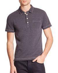Billy Reid | Blue Pensacola Cotton Polo for Men | Lyst