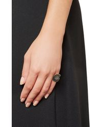 Dezso by Sara Beltran Black Ammonite  Rose Gold Ring