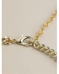 Night Market | Multicolor 'Golden Leaf' Necklace | Lyst