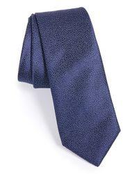 Saint Laurent | Blue Micro Texture Silk Tie for Men | Lyst