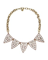 Lulu Frost | Metallic Galaxy Gold Plated Crystal Necklace | Lyst
