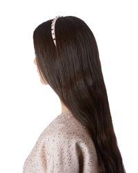Valentino | Pink Rockstud Leather Headband | Lyst