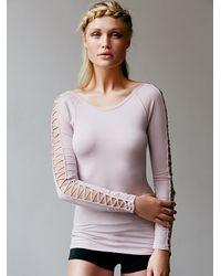 Free People - Pink Rama Layering Top - Lyst