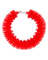 Mary Katrantzou | Red Ruffled Necklace | Lyst