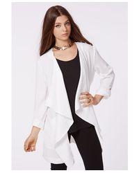 Missguided Annita Waterfall Jacket White