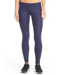 Alo Yoga | Purple 'airbrushed' Glossy Leggings | Lyst