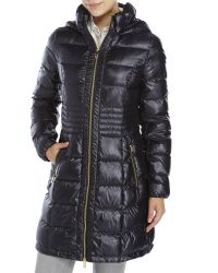 Via Spiga | Black Packable Quilted Down Coat | Lyst