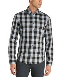 BOSS Green - Black 'c-bua' | Regular Fit, Cotton Button Down Shirt for Men - Lyst