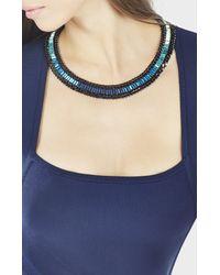 BCBGMAXAZRIA - Blue Baguette Stone Necklace - Lyst