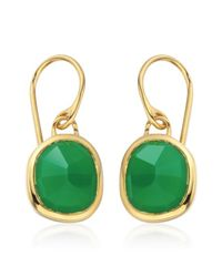 Monica Vinader | Green Siren Wire Earrings | Lyst