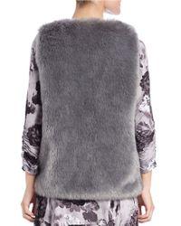 Lord & Taylor Metallic Faux-fur Vest
