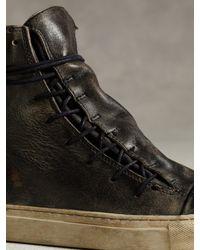 John Varvatos Black Mac Lace High Top Sneaker for men