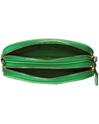 COACH Green Polished Pebble Crossbody Pouch
