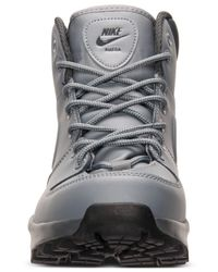 Nike Gray Men's Manoa Leather Boots From Finish Line for men