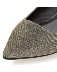 Dune | Metallic Amarie Pointed Toe Dressy Flat Shoes | Lyst