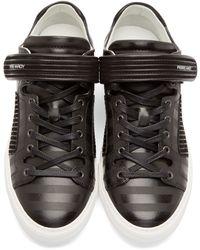 Pierre Hardy - Black Striped La Tennis Sneakers - Lyst