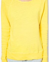 American Vintage | Yellow Scoop Neck Sweater | Lyst