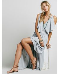 Free People | Blue Womens Fiona's Maxi Dress | Lyst