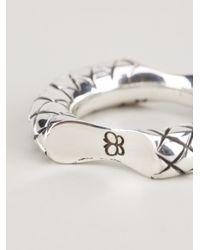 Bottega Veneta   Metallic Intrecciato Ring   Lyst