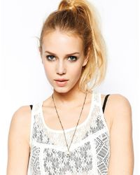 ASOS | Natural Limited Edition Faux Pearl Hexagon Long Necklace | Lyst