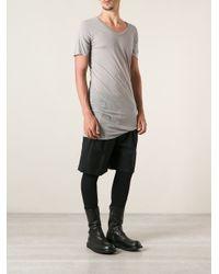 Rick Owens Gray Long Fit Tshirt for men