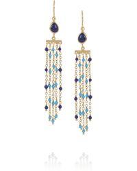 Isharya Blue Rainfall Goldplated Faux Lapis Earrings