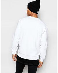 PUMA White Sweatshirt With Taping for men