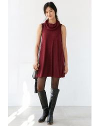 BDG - Purple Cowl-neck Swing Dress - Lyst