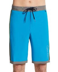 Calvin Klein - Blue Colorblock Swim Shorts for Men - Lyst