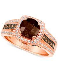 Le Vian - Brown Chocolate Quartz (1 Ct. T.w.) And Diamond (3/8 Ct. T.w.) Ring In 14k Rose Gold - Lyst