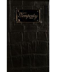 Temperley London - Black Crocodile Print Leather Ipad Case - Lyst