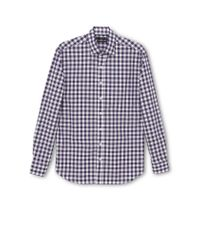 Mango | Purple Gingham Slim Fit Long Sleeve Button Down Shirt for Men | Lyst